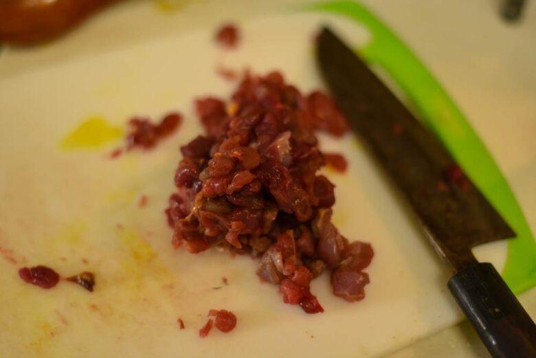 ヌートリア肉のミンチ